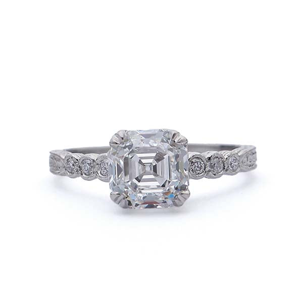 Replica Art Deco  Engagement Ring #3087-01 - Leigh Jay & Co.