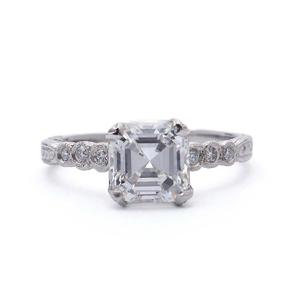 Replica Art Deco  Engagement Ring #3087-07 - Leigh Jay & Co.