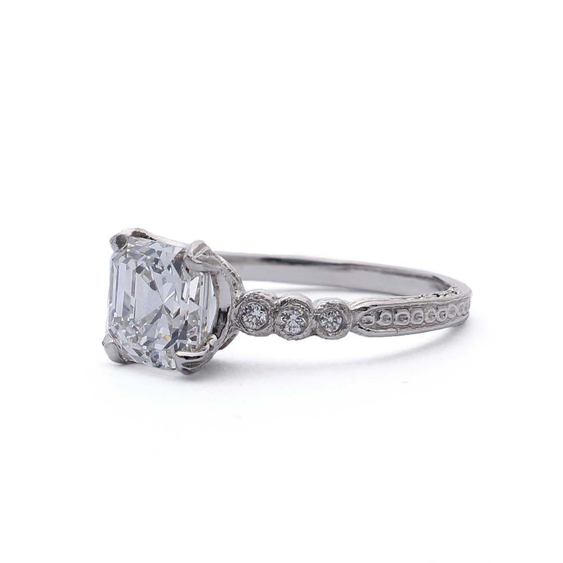 Replica Art Deco  Engagement Ring #3087-07