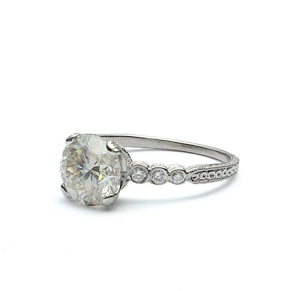 Replica Edwardian Engagement ring #3087-14 - Leigh Jay & Co.