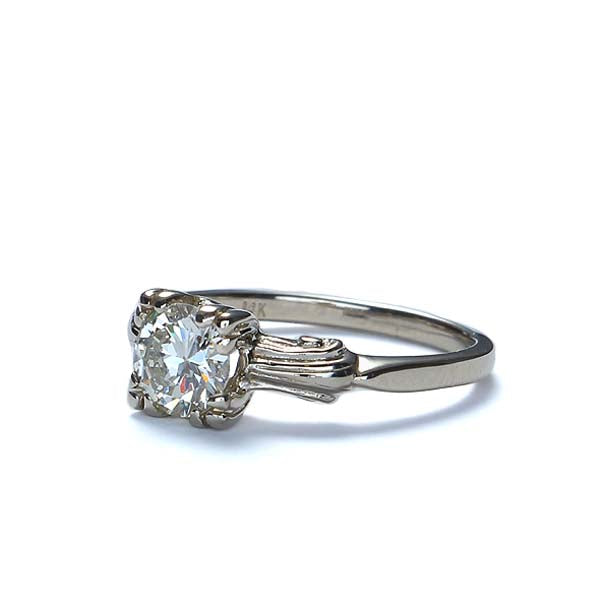 Replica 1940s Diamond Engagement Ring #3109-01 - Leigh Jay & Co.