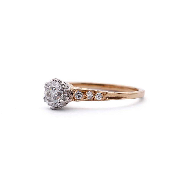 Replica Edwardian Engagement ring. #31302T-02 - Leigh Jay & Co.