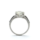 Replica Art Deco  Engagement Ring set with a vintage Diamond #3139-17 - Leigh Jay & Co.