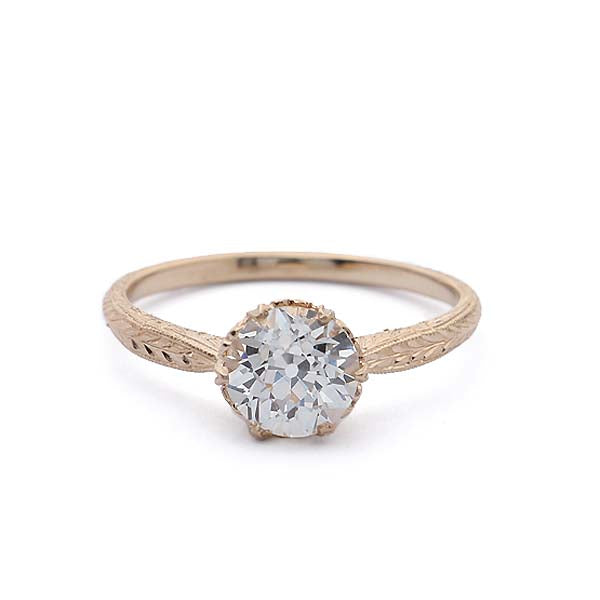 Replica Edwardian Engagement Ring #3141-21 - Leigh Jay & Co.
