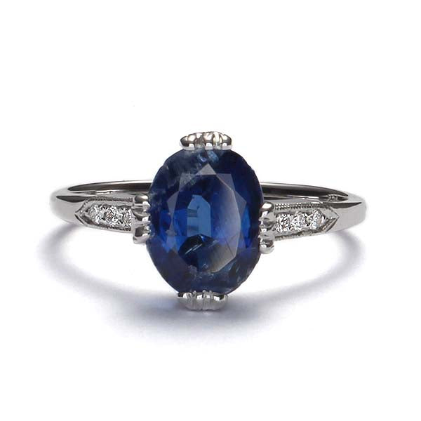 Replica Edwardian Ring with Kyanite #3143-04 - Leigh Jay & Co.