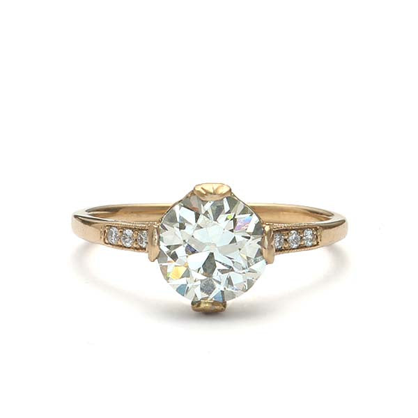Replica Edwardian Engagement Ring #3144-16 - Leigh Jay & Co.