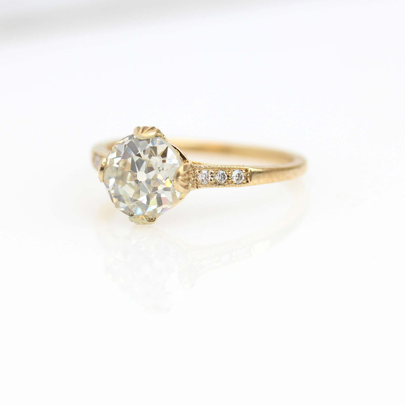 Replica Edwardian Engagement Ring with Vintage Diamond #3144-20