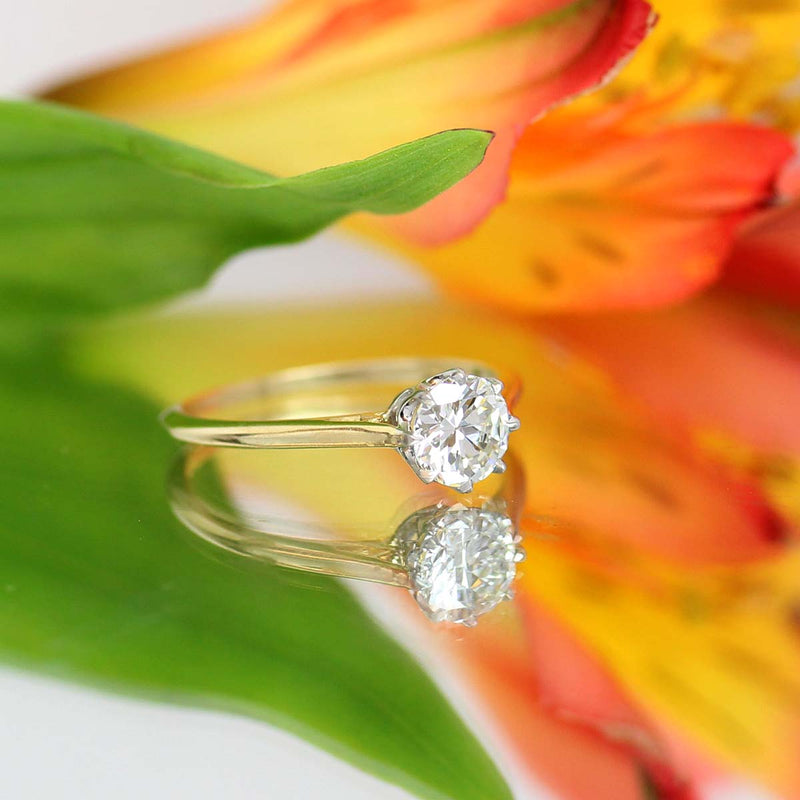 Replica Edwardian Engagement Ring #3411-3