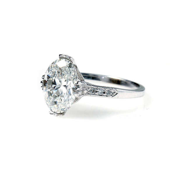 Replica Edwardian Engagement Ring with Vintage Diamond #3144OV-1