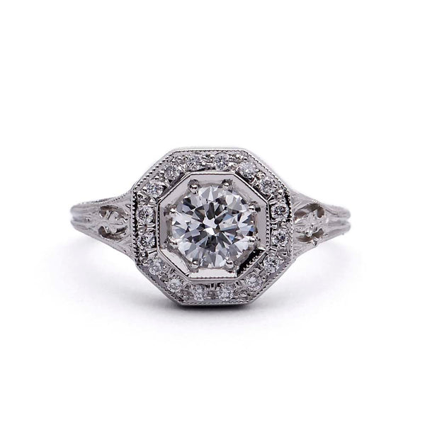 Replica Art Deco Engagement Ring #3152-2 - Leigh Jay & Co.