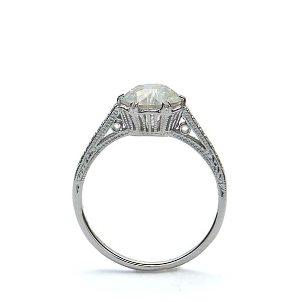 Replica Edwardian  engagement ring #3158-2 - Leigh Jay & Co.