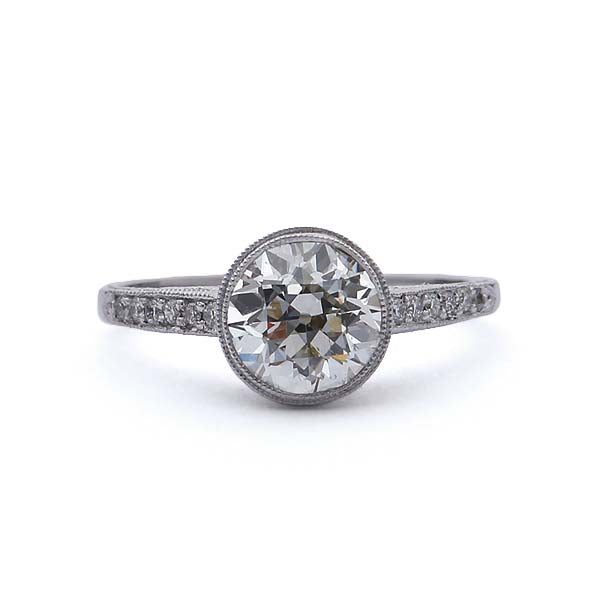 Replica Edwardian Diamond Engagement Ring #3158BZ-01 - Leigh Jay & Co.