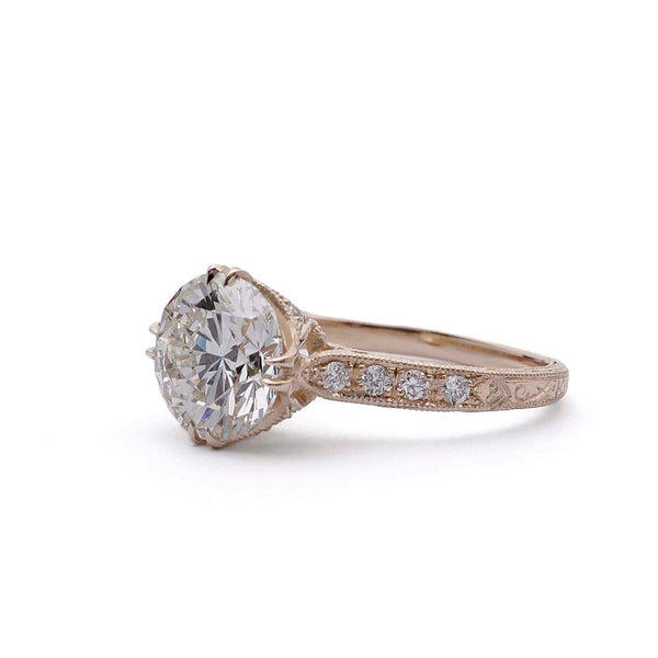 Replica Edwardian Engagement Ring #3174-5 - Leigh Jay & Co.