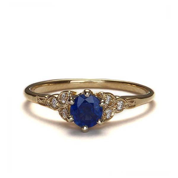 Replica Art Deco  Engagement Ring #3188-05 - Leigh Jay & Co.