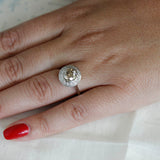 Replica Art Deco Halo Engagement Ring #3210-2 - Leigh Jay & Co.