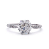 ON HOLD Replica Edwardian Diamond Engagement Ring #3237-25 - Leigh Jay & Co.