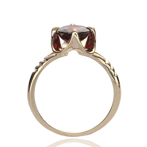 Replica Mid-Century Ring set with a Rhodolite Garnet. #489152 - Leigh Jay & Co.