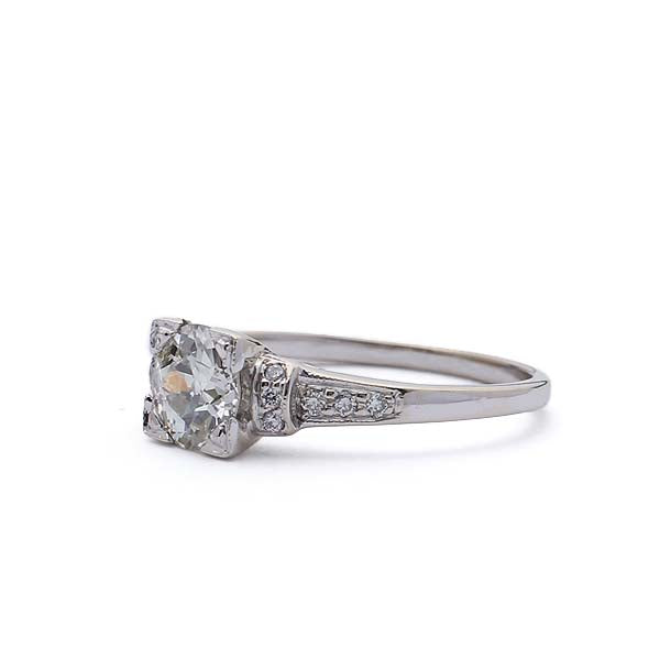 Replica 1930s Diamond Engagement #3247-02 - Leigh Jay & Co.