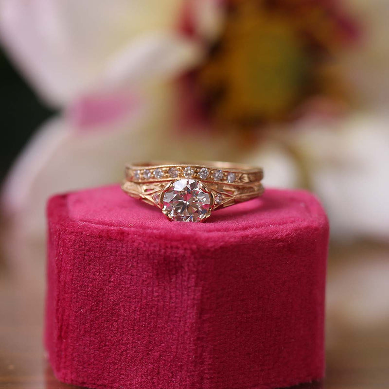 Replica Edwardian Engagement Ring #3257-25 - Leigh Jay & Co.