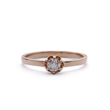 Petite Replica  Antique Engagement ring #3261-14 - Leigh Jay & Co.