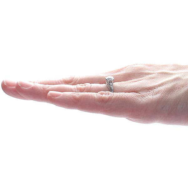 Replica Edwardian Engagement Ring #3271-03 - Leigh Jay & Co.