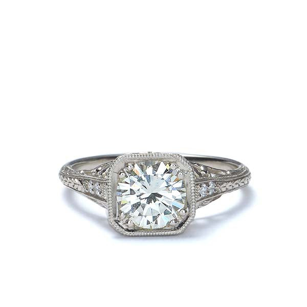 Replica Art Deco Diamond Engagement Ring #502607 - Leigh Jay & Co.