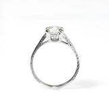 Replica Art Deco Engagement Ring with Vintage Diamond #3299-3