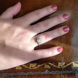 Replica Art Deco Engagement Ring #3300-4 - Leigh Jay & Co.