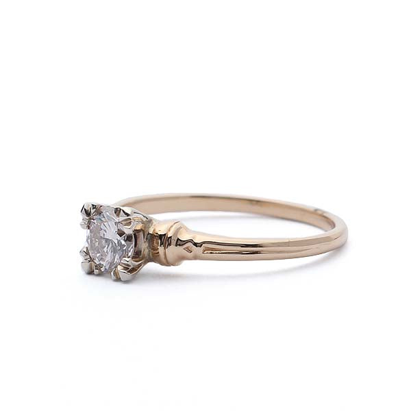 Replica 1940s solitaire engagement ring #512802 - Leigh Jay & Co.