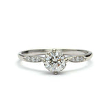 Replica Edwardian Engagement Ring #3323-15 - Leigh Jay & Co.