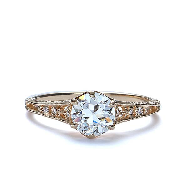 Enchanting replica Edwardian Engagement Ring #3330-03 - Leigh Jay & Co.