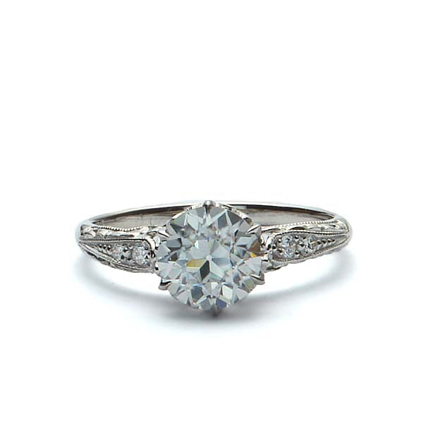 Replica Edwardian Engagement Ring #3351-6 - Leigh Jay & Co.