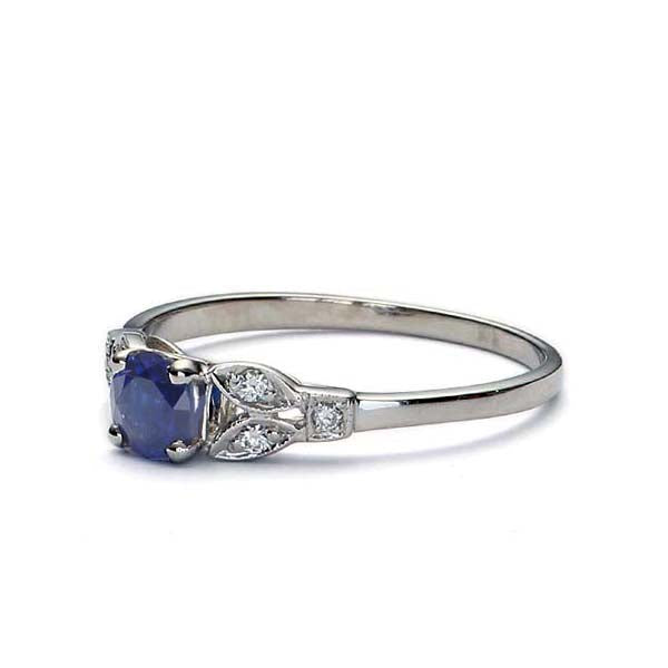 Replica Art Deco Sapphire Engagement Ring  #3355-05 - Leigh Jay & Co.