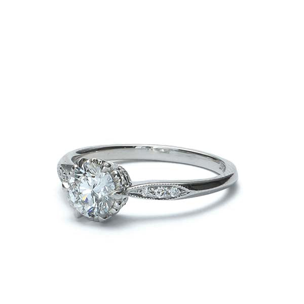 Replica Edwardian Engagement Ring #3357-11 - Leigh Jay & Co.