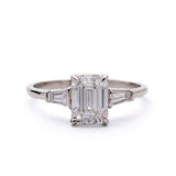 Emerald cut diamond Engagement Ring #3360-1 - Leigh Jay & Co.