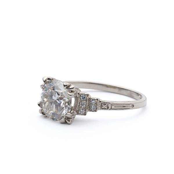Replica Art Deco Engagement Ring #3365-1 - Leigh Jay & Co.