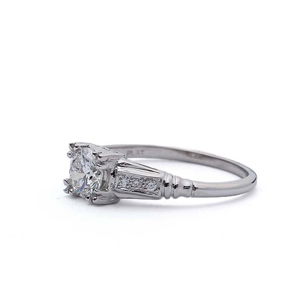 Replica Art Deco Engagement Ring #3369-1 - Leigh Jay & Co.