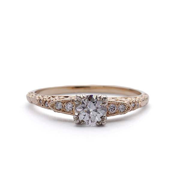 Replica Belle Epoque  Engagement Ring #3370-04 - Leigh Jay & Co.