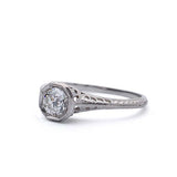 Replica Early Art Deco Diamond Engagment Ring. #538186 - Leigh Jay & Co.