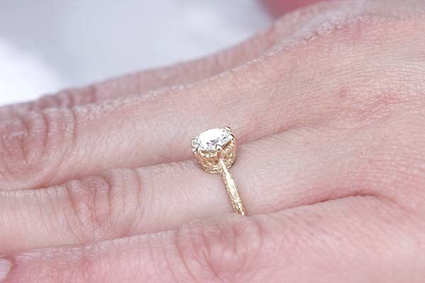 Replica Edwardian Engagement Ring #3376-11 - Leigh Jay & Co.