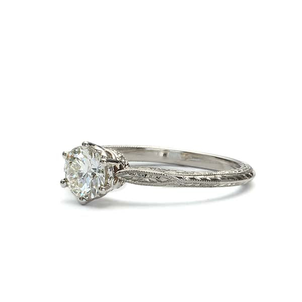 Replica Edwardian Engagement Ring #3376-1 - Leigh Jay & Co.
