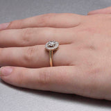 "Replica Art Deco ""halo"" engagement ring set with a vintage diamond #543849 - Leigh Jay & Co."