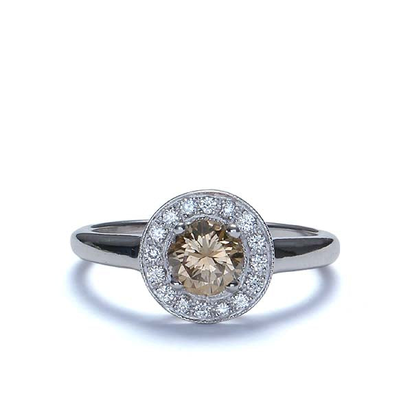 "Replica Art Deco ""halo"" engagement ring #543880 - Leigh Jay & Co."