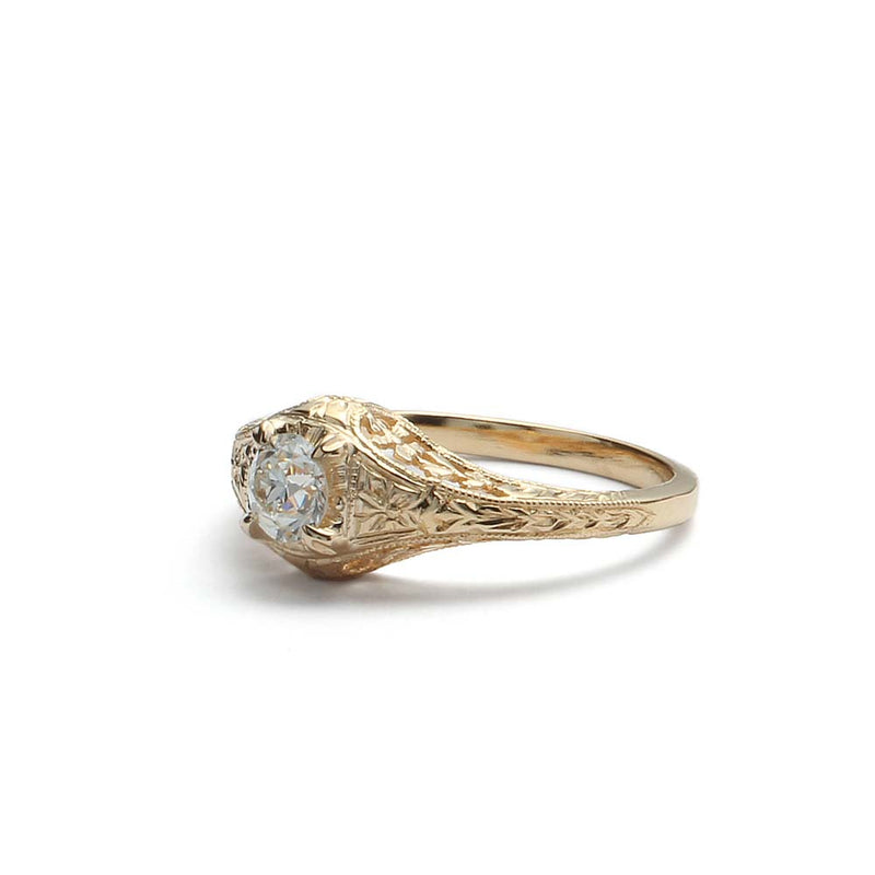 Replica Art Deco Engagement Ring #3390-4 - Leigh Jay & Co.