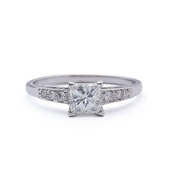 Replica Art Deco Princess Cut Engagement Ring #546040 - Leigh Jay & Co.