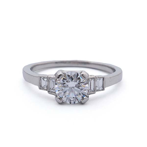 Replica 1930s Engagement Ring #3402-3 - Leigh Jay & Co.