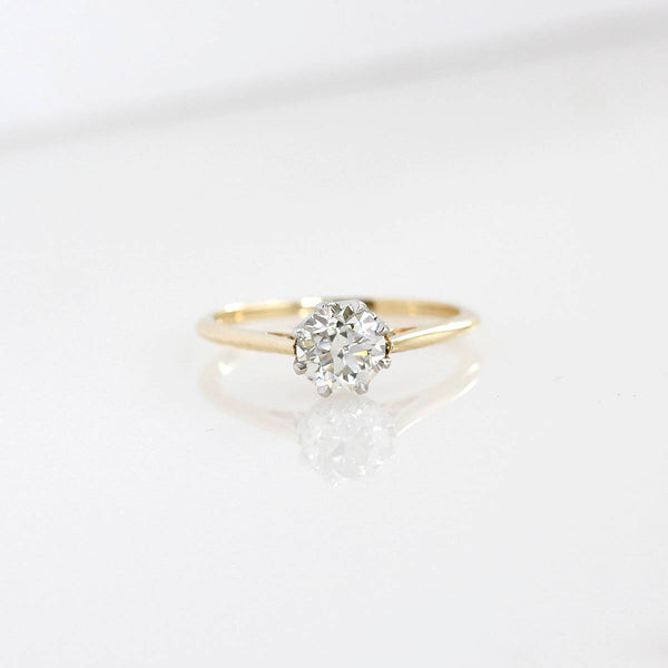 Replica Edwardian Engagement Ring #3411-2 - Leigh Jay & Co.