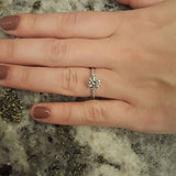 Edwardian Inspired Diamond Engagement Ring #3413-5 - Leigh Jay & Co.