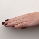 Edwardian Inspired Engagement Ring #3413-6 - Leigh Jay & Co.