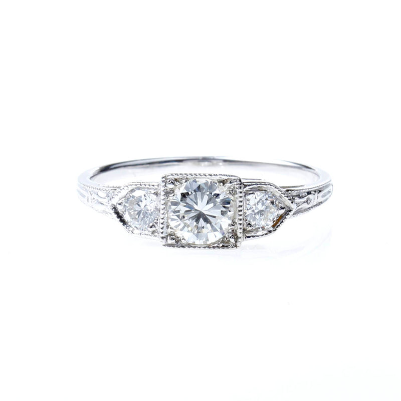 Replica Art Deco Engagement Ring Setting #L342614W